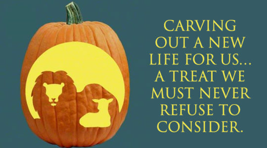 Carving out a new life for us… a treat we must never refuse to consider.